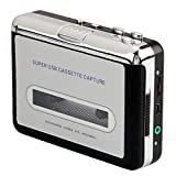 niceEshop(TM) USB Audio Cassette Tape Converter to MP3 CD Player PC(Silver and Black)