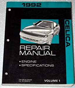 1992 toyota celica repair manual at180 st184 st185 series volume rh amazon com
