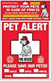 PET SAFETY ALERT 234001 2-Count Static Cling Window Decal for Pets, My Pet Supplies