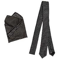 Bundle Monster Mens Fashion Necktie Cufflinks Tie Bar Pocket Square Combo Set