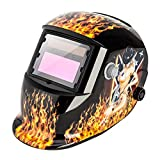 Z ZTDM Welding Helmet Safety Insight Variable Solar Auto Darkening Welding Helmet, Adjustable Shade Range DIN 9-13/Rest DIN 4,Welder Protective Gear ARC MIG TIG,Flame Beauty