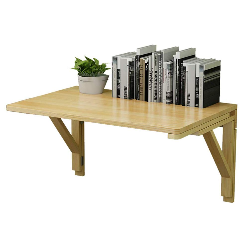 80 x 50cm PENGFEI Wall-Mounted Table Laptop Stand Desk Foldable Dining Table Study Table Save Space, Solid Wood (Size   80 x 50cm)
