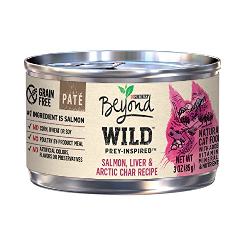 Purina Beyond Wild Grain Free Natural High Protein, Salmon, Liver & Arctic Char Pate Recipe Canned Cat Food, 3 Oz, Case Of 12