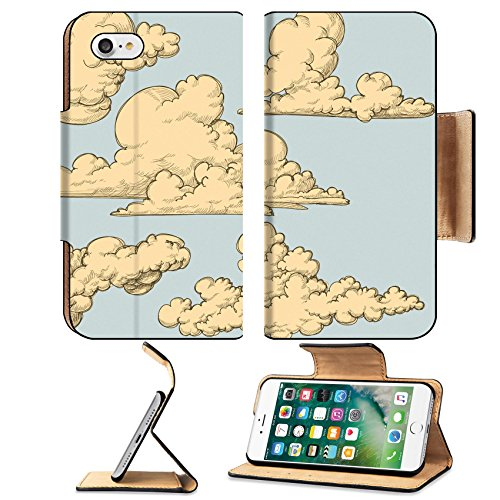 msd-premium-apple-iphone-7-iphone7-flip-pu-leather-wallet-case-vintage-clouds-image-10086975