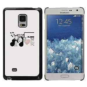 Be Good Phone Accessory // Dura Cáscara cubierta Protectora Caso Carcasa Funda de Protección para Samsung Galaxy Mega 5.8 9150 9152 // Music Notes Heart Love Girl Pen Art