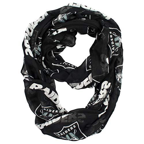 NFL Oakland Raiders  Sheer Infinity Scarf]()