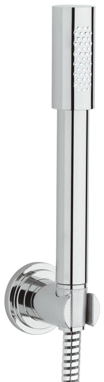 Grohe 28348000 Sena Set Stick, con Supporto A Parete Fisso, Manopola Doccia Monogetto, Cromo
