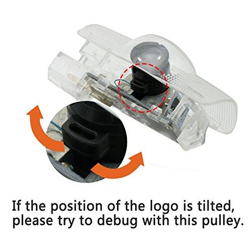 WFB Toyota Sequoia Easy Installation Car Door LED Logo Projector Light 2-pcs Set