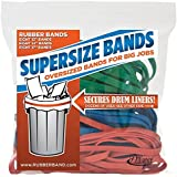 "Alliance Rubber 08997 SuperSize Bands, Assorted Large Heavy Duty Latex Rubber Bands - 24 Pack, includes 8 bands of each size (12"", 14"", 17"") in resealable bag"