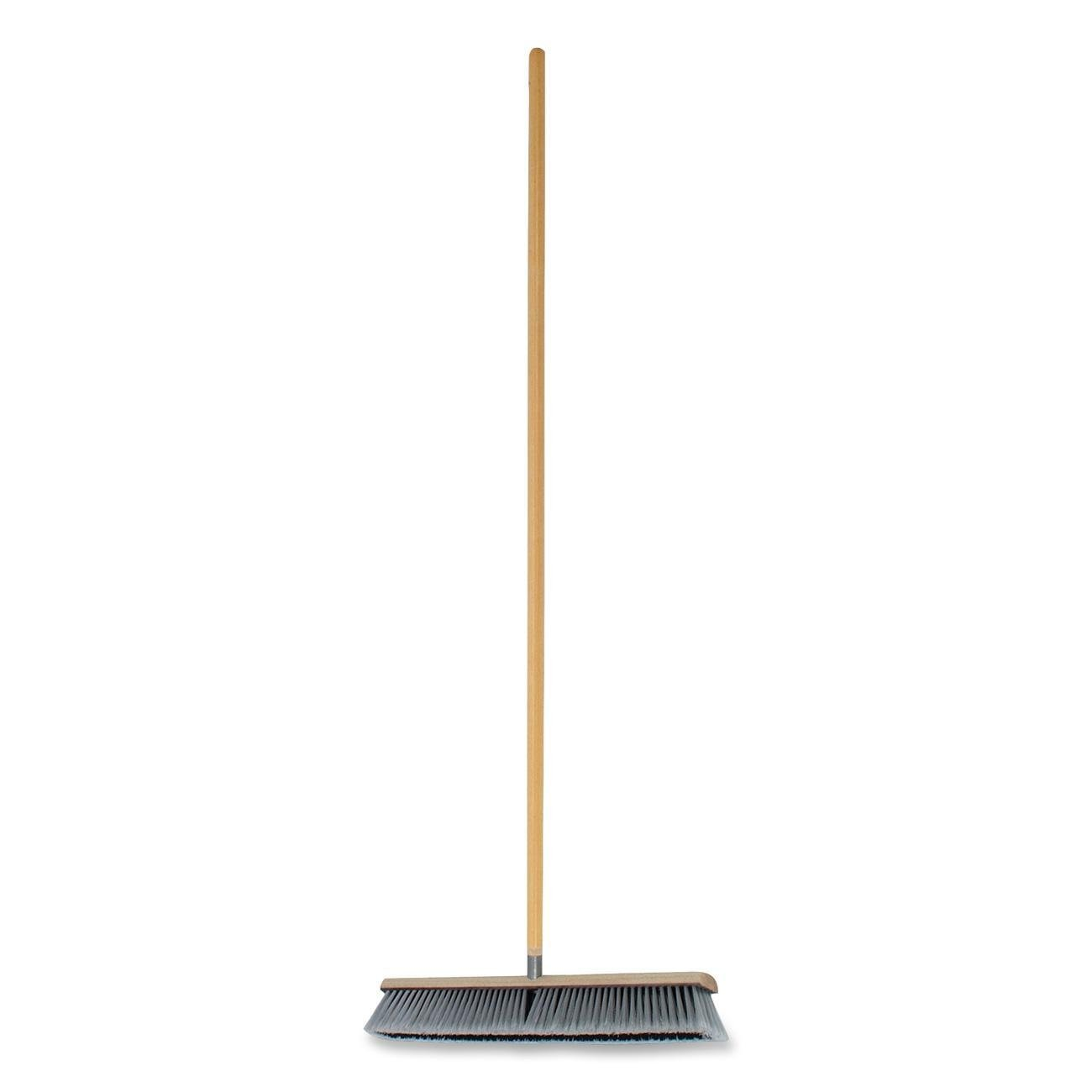 Genuine Joe GJO60467 Polypropylene Heavy Duty Manual Broom with Floor Sweep and Handle, 24'' Bristles