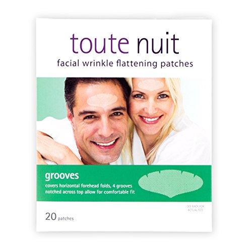 Toute Nuit Facial Wrinkle Flattening Patches – Grooves UNISEX Extra Wide Forehead Coverage (Anti-Wrinkle Patches/Face - Wide Foreheads