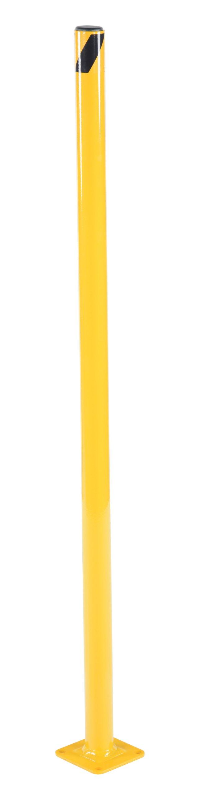 Vestil BOL-42-2 Yellow Powder Coat Pipe Safety Bollard, Steel, 1-3/4'' OD, 42'' Height