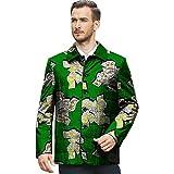 African 2018 Men's Shirt Vintage Clothing Wear Stand Collar Matching Jacket Coat Suit Dashiki3 L