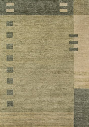 Momeni Rugs  Gramercy Collection, 100% Wool Hand Loomed Contemporary Area Rug, 5' x 8', Green