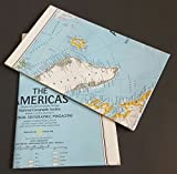 img - for MAP: THE AMERICAS, Produced by the Carotgraphic Division, National Georgraphic Society, National Geographic Magazine book / textbook / text book