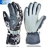 Winter Ski & Snowboard Gloves, -86℉ Cold Waterproof & Windproof Snow Gloves for Skiing, Snowboarding, Shoveling