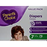 Branded Parent's Choice Diapers, Size 7, 78 Diapers , Weight 41lbs - Branded Diapers with fast delivery