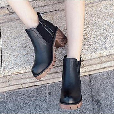 Animal Women's Skin Casual Block amp;xuezi Heel Comfort khaki Chunky Gll Boots Heel 5wqgHWI