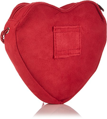 Alpenflüstern Herztasche Hirsch & Blumenranke - Bolso de hombro de material sintético mujer rojo - rojo (rojo 20)