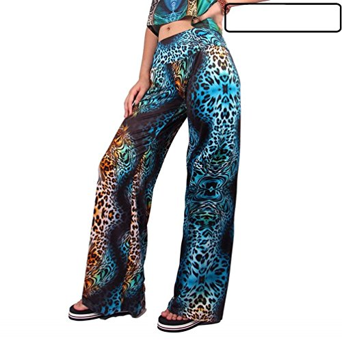Pantaloni Tempo Libero Moda Pantaloni Primaverile Pantaloni 9 Pantalone Stampato Vintage Colour Semplice Nahen Taille Glamorous HaiDean Donna Eleganti Larghi Autunno Colpo qczqTZfS