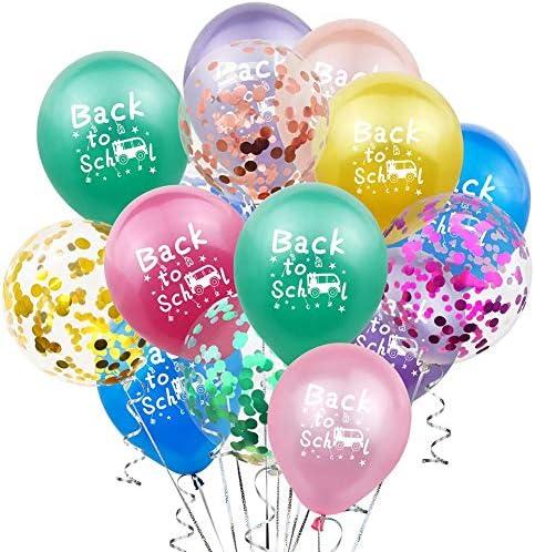 20枚 ラテックス風船ィーバルーンセット 12インチの虹色の風船パーティーの装飾風船結婚式誕生日パーティー祭イベントの装飾、教室歓迎教師学生