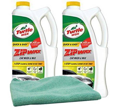 (Turtle Wax Zip Wax Liquid Car Wash (64 oz.) Bundle Microfiber Cloth (3 Items))