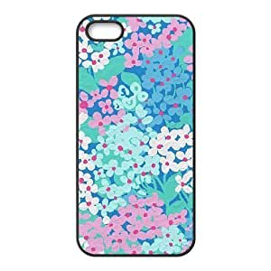Cool Painting Blue Flowers New Fashion DIY Phone Case for Iphone 5,5S,customized cover case case612439