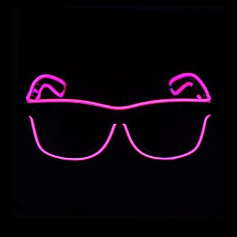 JIAMA Illuminare Gli Occhiali, Occhiali al Neon a Incandescenza a LED Occhiali a Filo EL per la Festa di Compleanno di Halloween (Blu)