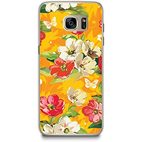 Case for Samsung S7, CasesByLorraine Floral Pattern Case Plastic Hard Cover for Samsung Galaxy S7 (E13-Orange) Sales