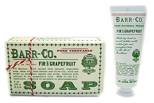 Price comparison product image Barr Co Fir and Grapefruit Bar Soap with Mini Hand Cream k hall designs