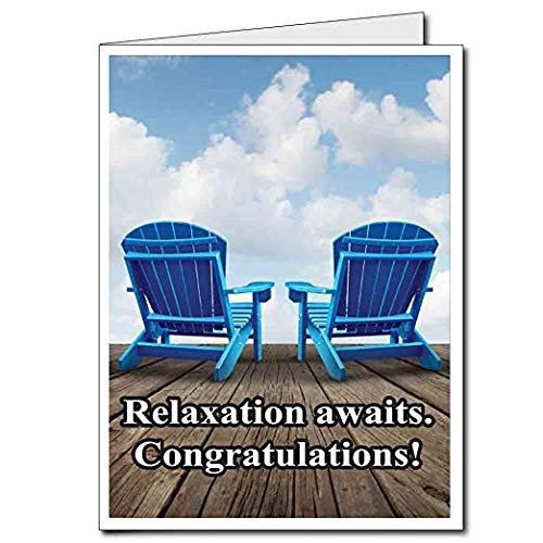 VictoryStore Jumbo Greeting Cards: Giant Retirement Card (Relaxation Awaits) 2' x 3' Card with Envelope