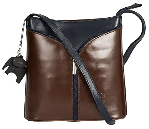 Shoulder Body Protective Dark with a Storage Bag Navy Bag Trim and Branded LIATALIA Alice Charm Leather Tan Mini Italian Cross SwXIBXq