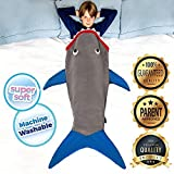 Shark Blanket Tail For Kids, Super Soft and Comfy All Seasons Sleeping Bag Sofa Living Room Quilt, Great Birthday Christmas and for Kids (55.9' x 19.68',) (Grey)