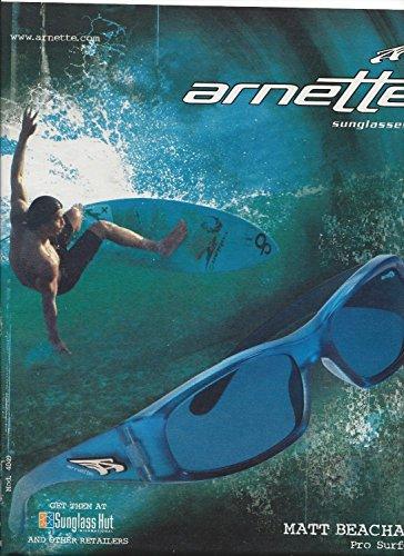 **PRINT AD** With Surfer Matt Beacham For 2005 Arnette Sunglasses **PRINT - Sale Arnette Sunglasses