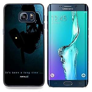 - Portal Aperture - - Cubierta del caso de impacto con el patr??n Art Designs FOR Samsung Galaxy S6 Edge Plus Queen Pattern