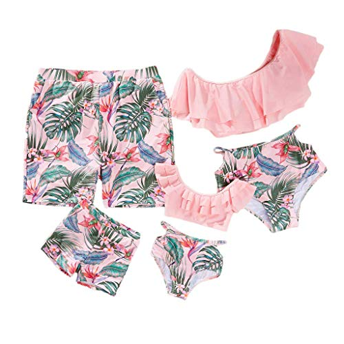 Family Matching Swimwear Two Pieces Bikini Set 2019 Newest Printed Ruffles Mommy and Me Bathing Suits (Baby Girl, 12-18M)