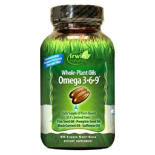 Irwin Naturals Whole-Plant Oils Omega 3-6-9 90 liquid softgel