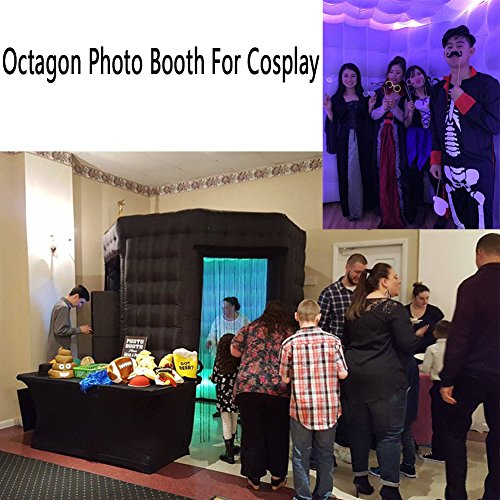 Octagon Inflatable Portable Photo Booth - Inflatable Photobooth with Led Light Strip and Inner Air Blower Octagon Booth Stand for Party, Wedding, Birthday, Halloween Decoration(Two Doors) by AIRMAT FACTORY (Image #4)