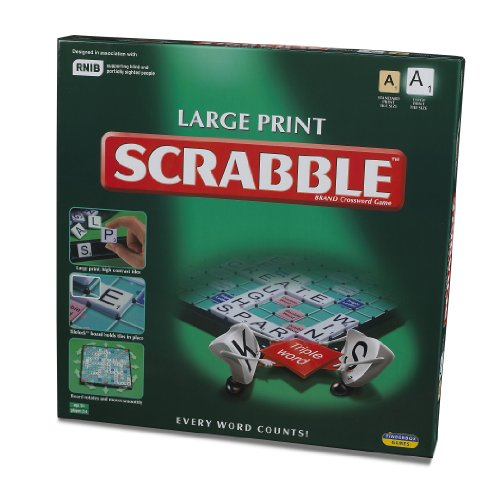 Scrabble - Large Print - Crossword Game - 10108 (Scrabble Game Crossword Board)