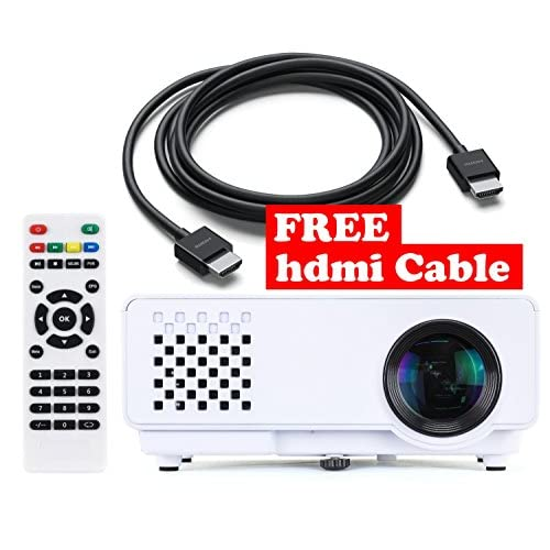 Mini Projector + FREE HDMI Cable ($7 Value) - With True 1200
