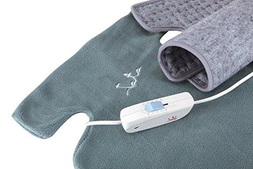 JATA CTLC- Almohadilla eléctrica cervical espaldera (56 x 39 cm, mando regulador con 3 niveles de calor, funda textil extraíble y lavable): Amazon.es: Salud ...