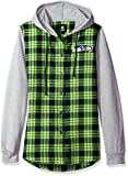 NFL Seattle Seahawks Womens NFL Women's Lightweight Flannel Hooded Jacket, Large