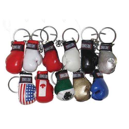 Ringside Small Boxing Glove Key Ring (Gold)