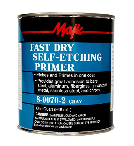 Majic Paints 8-0070-2 Fast Dry Self-Etching Spray, 1 quar...