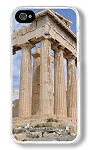 Acropolis Athens Buildings Custom iphone 5c Case Back Cover, Snap-on Shell Case Polycarbonate PC Plastic Hard Case white