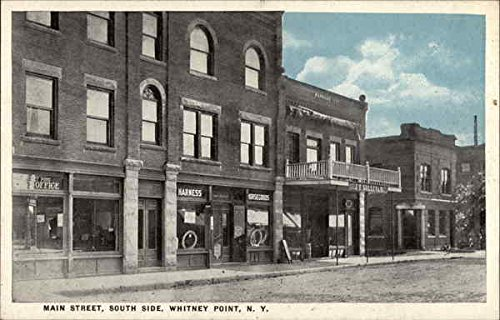 Main Street, South Side Whitney Point, New York Original Vintage - Streets South Of Point
