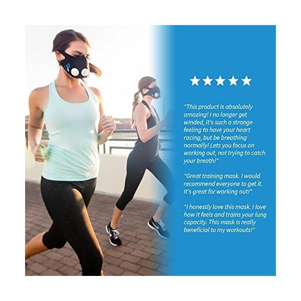 Training Mask Elevation Basic per allenamenti, running, sport, HIIT training [1anno di garanzia] 5 spesavip