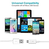 Wall Chargers Adaptive Fast Charger Kit for Samsung Galaxy S7/S7 E/S6/S6 E/Note 5/4 /S4/S3, USB 2.0 Samsung Charger Adaptive Fast Charging Kit (Wall Charge x 2, Micro USB Cable x 2) White