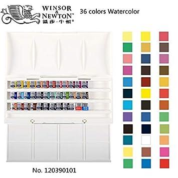 Winsor & Newton Cotman 8/12/24/36/45 colores mitad sartenes sólido ...