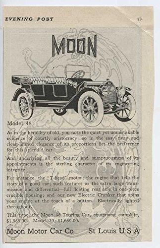 1913 Moon Motor Car Co St Louis MO Auto Ad Macbeth Evans Glass Co